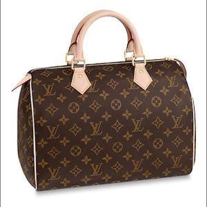 New LOUIS VUITTON Speedy 30 Handbag Purse bubdsdsd